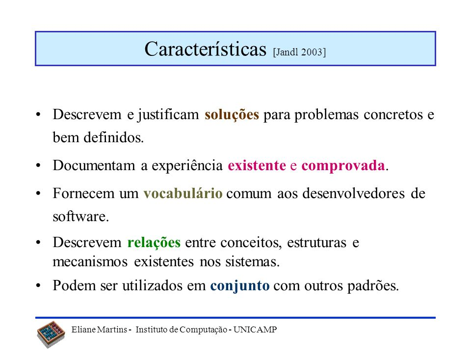 Características [Jandl 2003]
